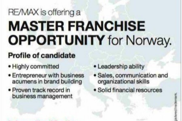 RE/MAX søker master franchisetaker for Norge